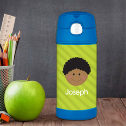 Just Like Me Boy Green Kids Thermos