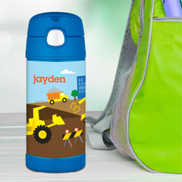 Construction Site Personalized Thermos Bottle