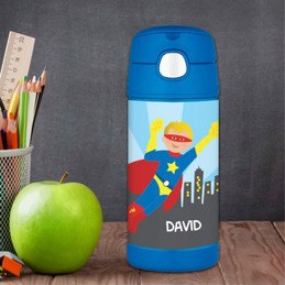 A Cool Superhero Personalized Boy Thermos