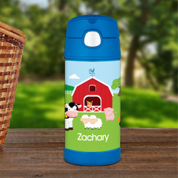 A Day In The Farm Personalized Thermos Bottle