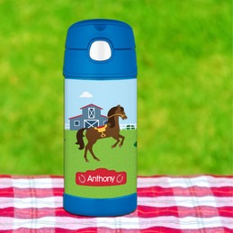 Cute Race Horse Personalized Thermos Funtainer