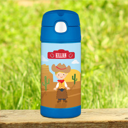 Cowboy Personalized Funtainer Bottle