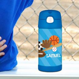 Sports Fan Personalized Thermos Bottle