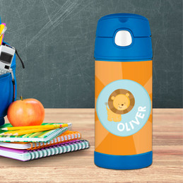 Cute Baby Lion Personalized Thermos Bottle