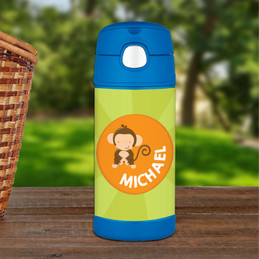 Cute Baby Monkey Personalized Thermos Funtainer