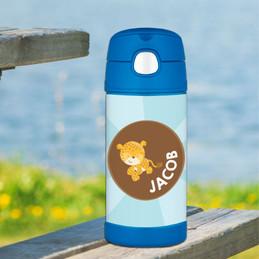 Cute Baby Cheetah Thermos Bottle