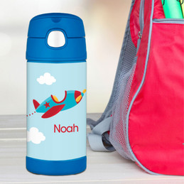 Fly Little Plane Personalized Thermos
