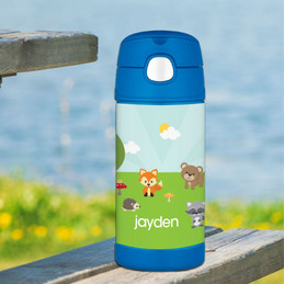 Cute Animals In The Forest Personalized Thermos Funtainer