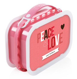 Peace & Love Personalized Yubo® Lunchbox