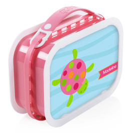 Swimming Pink Turtle Personalized Yubo® Lunchbox