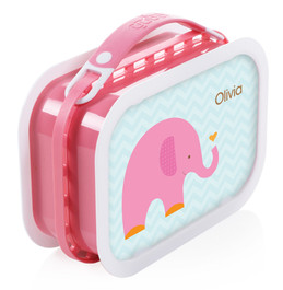 Sweet Pink Elephant Personalized Yubo® Lunchbox