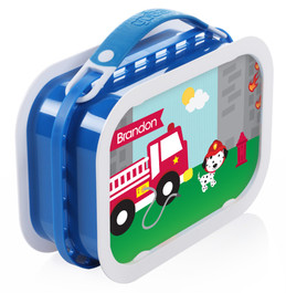 Fighting Fire Personalized Yubo® Lunchbox