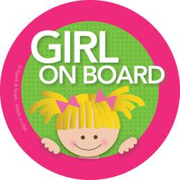 Blonde Girl On Board Labels by Spark & Spark