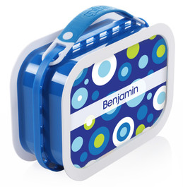 Circles and Circles (Blue) Personalized Yubo® Lunchbox