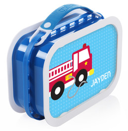 Cool Firetruck Personalized Yubo® Lunchbox