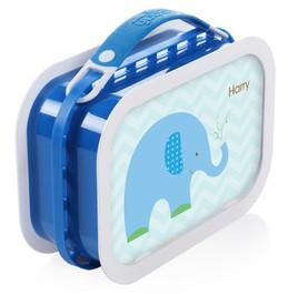 Blue Baby Elephant Personalized Yubo® Lunchbox