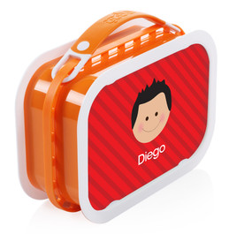 Just Like Me (Boy-Red) Personalized Yubo® Lunchbox