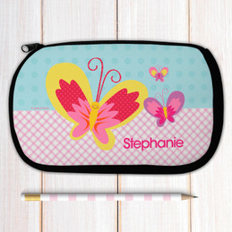Smiley Butterfly Pencil Case