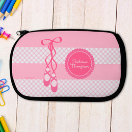 Ballerina Shoes Personalized Pencil Case For Kids