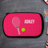 Pink Tennis Racquet And Ball Personalized Pencil Case For Kids