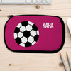 Purple Soccer Ball Personalized Pencil Case For Kids