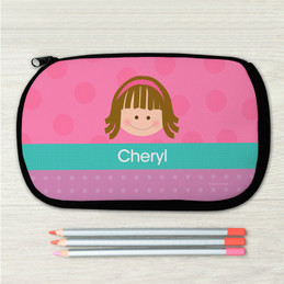 Just Like Me Girl-Pink Pencil Case