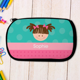 Just Like Me Girl-Turquoise Pencil Case