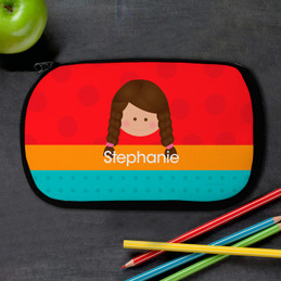 Just Like Me Girl-Red Pencil Case