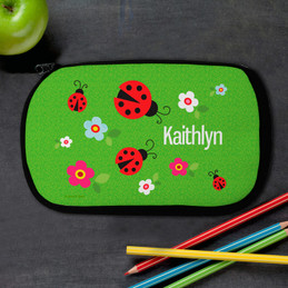 Lady Bug Personalized Pencil Case For Kids