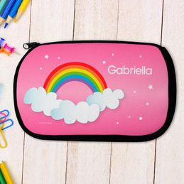 Dreamy Rainbow Personalized Pencil Case For Kids