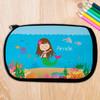 Brunette Sweet Mermaid Pencil Case