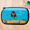 Black Hair Sweet Mermaid Pencil Case