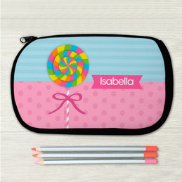 Yummy Lollipop Personalized Pencil Case For Kids