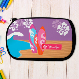 Surf Boards Personalized Pencil Case For Kids