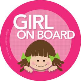 Sweet Baby in Car Sticker with Brunette Girl | Spark & Spark