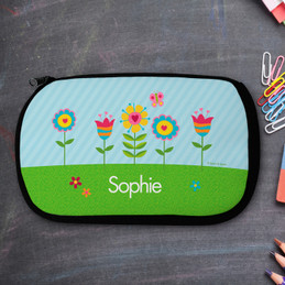 Spring Blooms Personalized Pencil Case For Kids