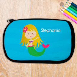 Blonde Cute Mermaid Pencil Case