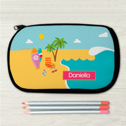 Fun At The Beach Personalized Pencil Case For Kids