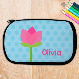 Cute Tulip Personalized Pencil Case For Kids
