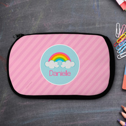 Rainbow In The Sky Personalized Pencil Case For Kids