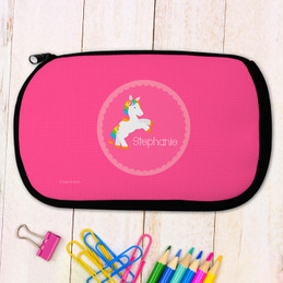 Playful Pony Personalized Pencil Case For Kids