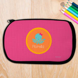 Cute Octopus Personalized Pencil Case For Kids