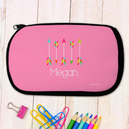 Colorful Arrows Personalized Pencil Case For Kids