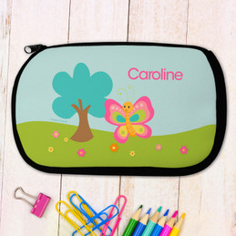 Cute And Sweet Butterfly Personalized Pencil Case For Kids