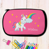 Rainbow and Unicorn Personalized Pencil Case for Kids