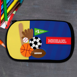 Love For Sports Personalized Pencil Case For Kids