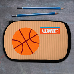 Basketball Fan Personalized Pencil Case For Kids