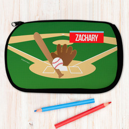 Baseball Fan Personalized Pencil Case For Kids