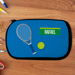 Tennis Fan Personalized Pencil Case For Kids