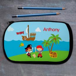 Yo Ho Pirate Personalized Pencil Case For Kids
